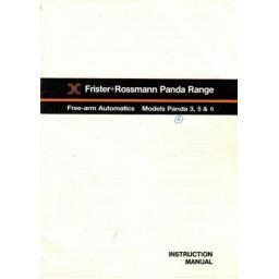 FRISTER + ROSSMANN PANDA MODELS 3, 5 & 6 INSTRUCTION MANUAL (Download))