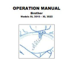 BROTHER XL3010 & XL3022 Instruction Manual (Download)