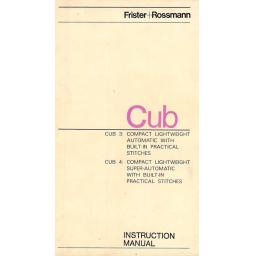 FRISTER + ROSSMANN  Cub 4 Instruction Manual (Download)
