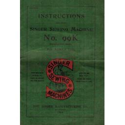 Singer 99K Instruction Manual (.pdf Download)