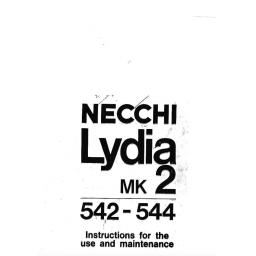NECCHI Lydia Mk 2 (542, 544) Instruction Manual (Download)