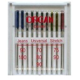 ORGAN Sewing Machine Needles Combi Pack of 10 Assorted