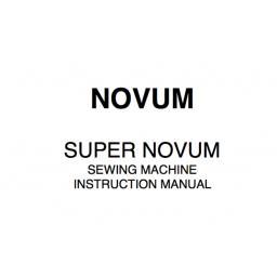 NOVUM Super Novum Instruction Manual (Printed)
