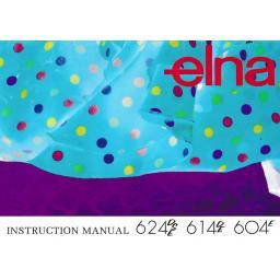 ELNA 624DSE, 614DE & 604E  Overlockers Instruction Manual (Download)