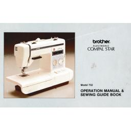 BROTHER Compal Star Model 732 (Convertible) Instruction Manual (Download)