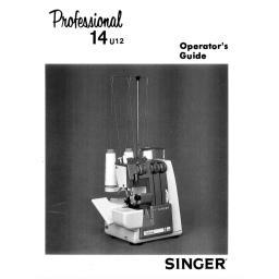 SINGER 14U12 Overlocker Instruction Manual (Download)