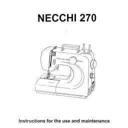 NECCHI Sylvia 270 Instruction Manual (Download)