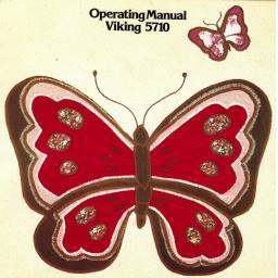 HUSQVARNA/VIKING 5710 Instruction Manual (Printed)