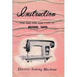 BROTHER or JONES MODEL 1610 Instruction Manual (Download)
