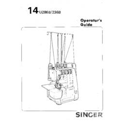 SINGER 14U286B & 14U236B Overlocker Instruction Manual (Printed)