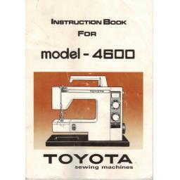 TOYOTA Model 4600 Instruction Manual (Printed)