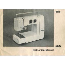 ELNA Elnita Instruction Manual (Printed)