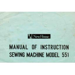 NEW HOME 551 Instruction Manual (Printed)