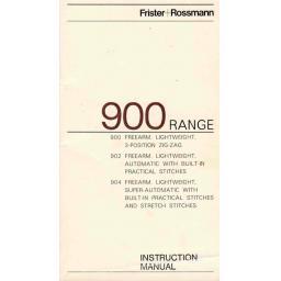 FRISTER + ROSSMANN Models 900, 902 & 904 Instruction Manual (Printed)