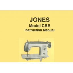 JONES  Model CBE Sewing Machine  Instruction Manual (Download)