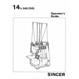 SINGER 14U34B & 234B Overlocker Instruction Manual (Download)