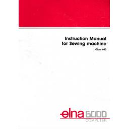 ELNA 6000 Instruction Booklet (Printed)