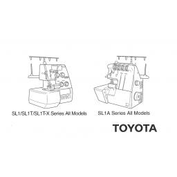TOYOTA Models SL1, SL1T, SL1TX & SL1A Overlocker Instruction Manual (Download)