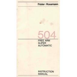 FRISTER + ROSSMANN Model 504 Instruction Manual (Download)