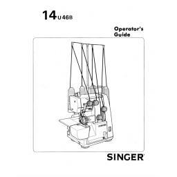 SINGER 14U46B Overlocker Instruction Manual (Printed)