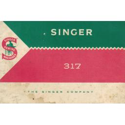 SINGER 317(K) Instruction Manual (printed copy)