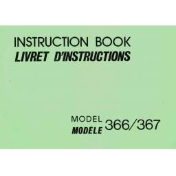 NEW HOME 366 & 367 Instruction Manual (Printed)