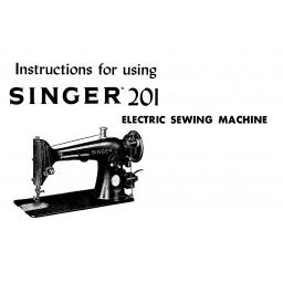 SINGER 201K Instruction Manual (Printed)