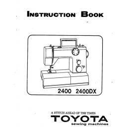 TOYOTA 2400 (2400DX) Instruction Manual (Printed)