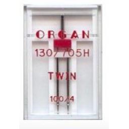 ORGAN Sewing Machine Needles Twin 100/4