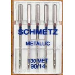 Schmetz Sewing Machine Needles Metallic Size 90(14)