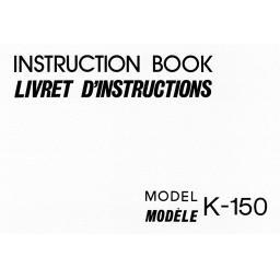 NEW HOME K-150  IInstruction Manual (Download)