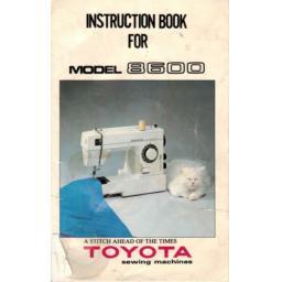 TOYOTA Model 8600 Instruction Manual (Printed)