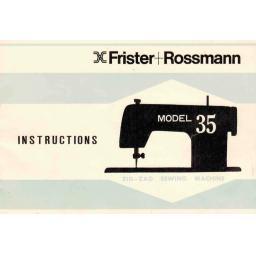 FRISTER + ROSSMANN Model 35 Instruction Manual (Printed)