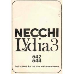 NECCHI Lydia 3 (542, 544) Instruction Manual (Download)
