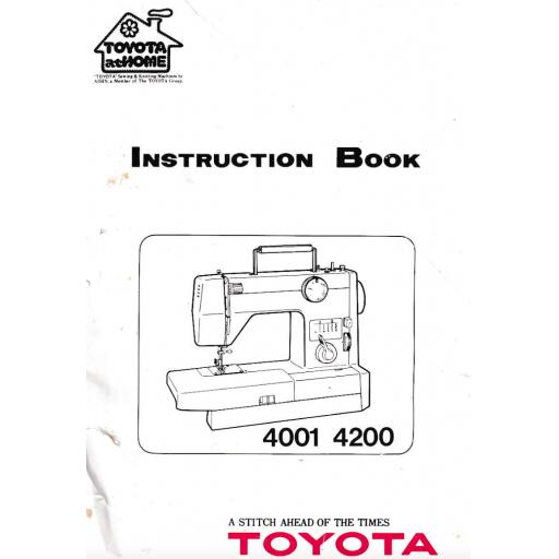 TOYOTA 4001 & 4200 Instruction Manual (Printed)