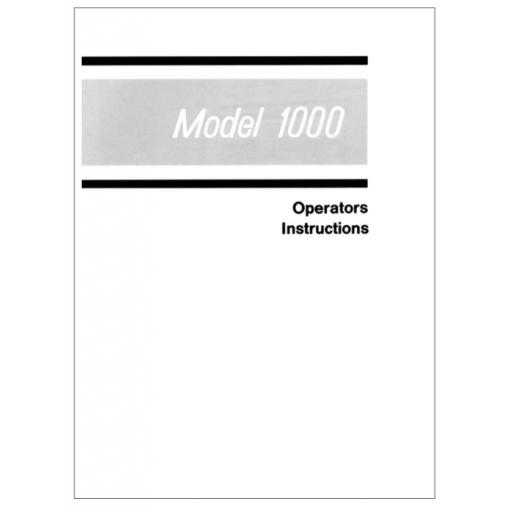 ELNA Primula Model 1000 Instruction Model (Download)