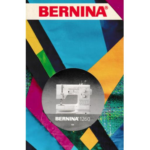 BERNINA 1260 Instruction Manual (Printed)