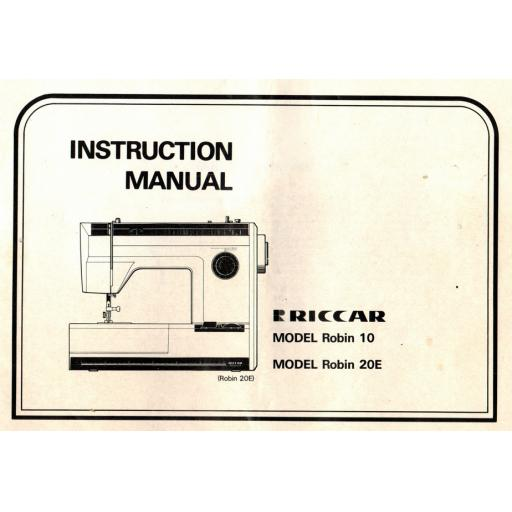 RICCAR Robin 10 & 20E Instruction Manual (Printed)