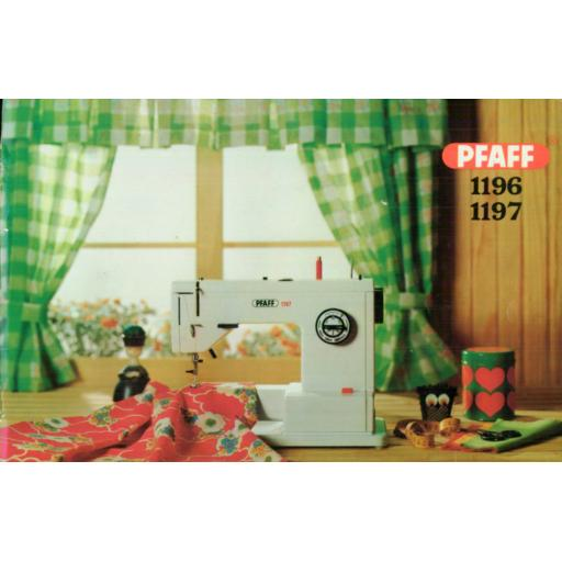 PFAFF Models 1196 &1197 Instruction Manuals (Printed)