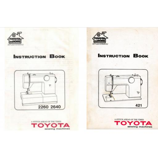 TOYOTA Model 421 + 2260 & 2540 Instruction Manual (Printed)