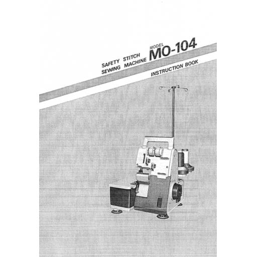 JUKI MO-104 Instruction Manual (Printed)