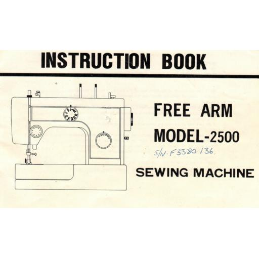 RICCAR Model 2500 Instruction Manual (Printed)