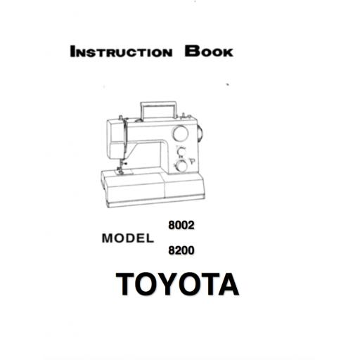 TOYOTA 8002 & 8200 Instruction Manual (Printed)