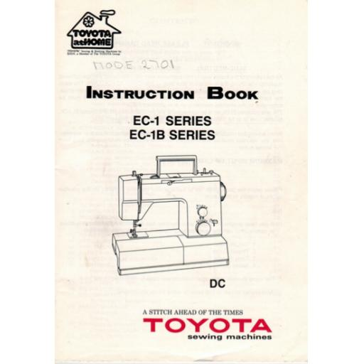 TOYOTA EC1 & EC1B Series (2202, 2701) Instruction Manual (Download)