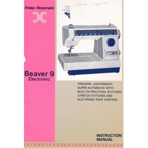 FRISTER + ROSSMANN Beaver 9 Instruction Manual (Printed)