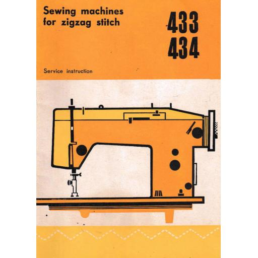 SEAMSTRESS Models 433 & 434 Sewing Machine Instruction Manual (Printed)