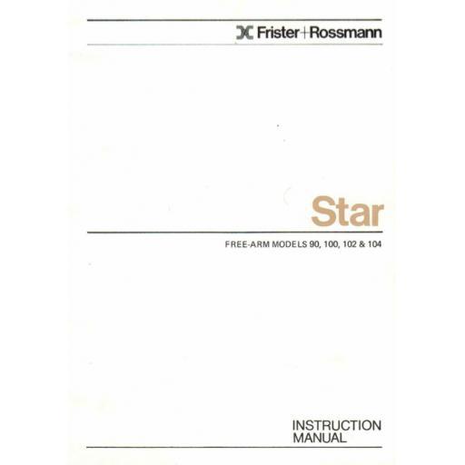 FRISTER + ROSSMANN Star 90, 100, 102 & 104 Instruction Manual (Download)