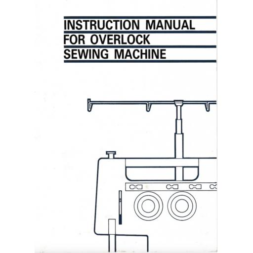 BROTHER  734DP & 834DP Overlocker (Serger) Instruction Manual (Printed)