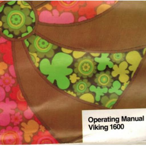 HUSQVARNA/VIKING 1600 Instruction Manual (Printed)