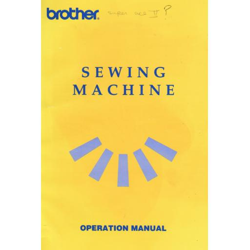 BROTHER Super Ace II Model 825 Instruction Manual (Download)